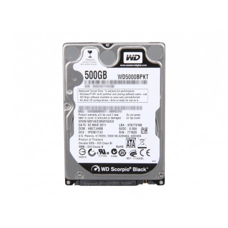 WD Black 500GB SATA-300